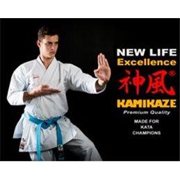 Kimono blanc Excellence kata Tokyo 2020 Kamikaze WKF blanc