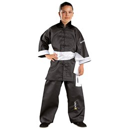 Tenue Kung Fu Clubline noire coupe chinoise