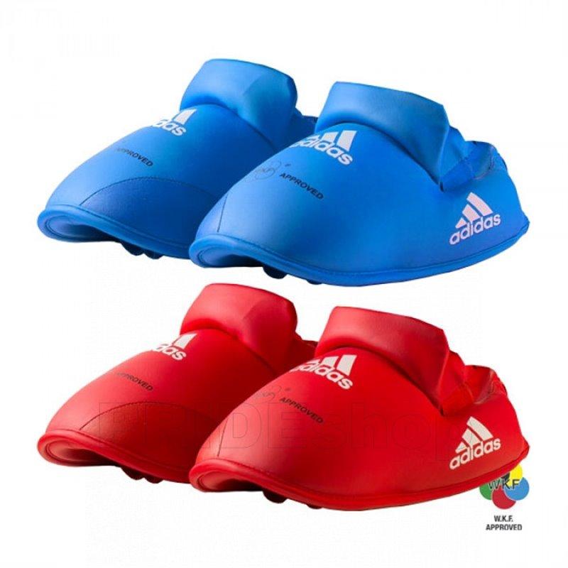 Protege pieds Adidas WKF rouge ou bleu