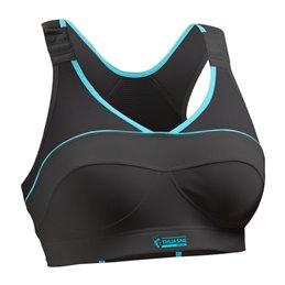 Brassiere femme Thuasne Sport Top strap X-Back noire
