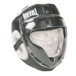 Casque pro metal boxe protection polycarbonate