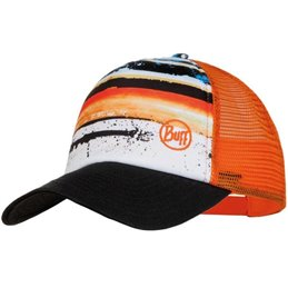 Casquette Buff Trucker Junior blanc orange
