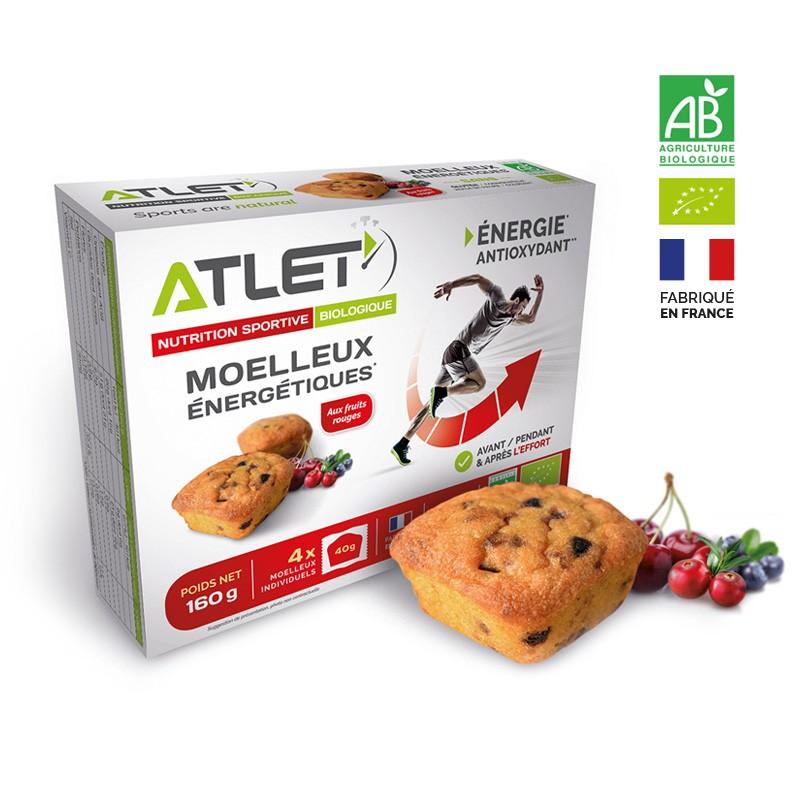 Moelleux energetiques ATLET fruits rouges x 4