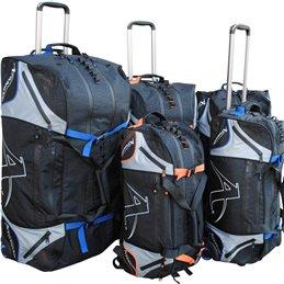Sac de sport Arawaza noir/bleu a roulettes taille au choix