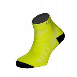 La Chaussette de France Running modele Overdrive jaune fluo