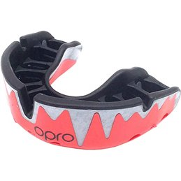Protege dents Shock doctor Opro Platinium Rouge dentition