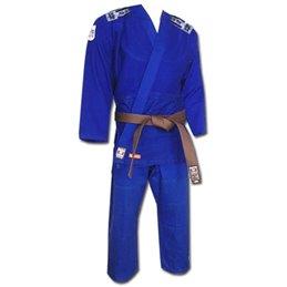 Kimono judo Noris 450gr avec bandes Bleu