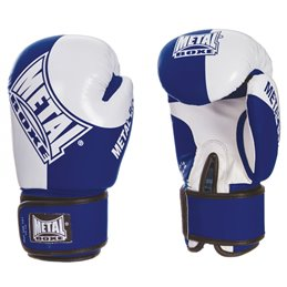 Gants Compétition Amateur Anglaise Metal boxe Bleu