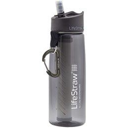 LifeStraw Go2  filtre d'eau bouteille avec paille de filtre intégrée gris
