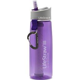 LifeStraw Go2  filtre d'eau bouteille avec paille de filtre intégrée violet