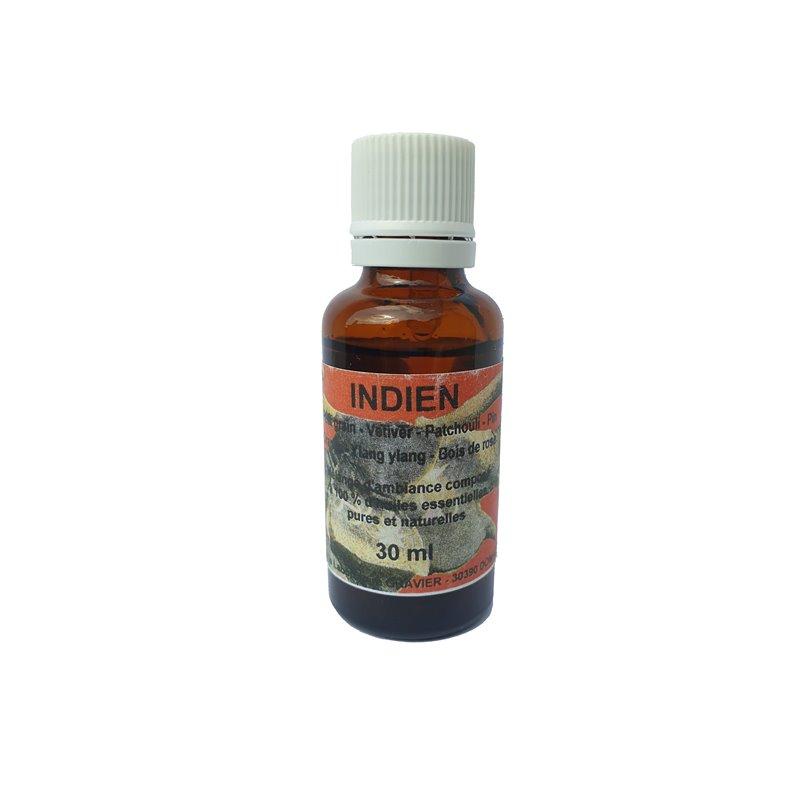 Huile esentielle Bio Indien Petit grain Cetiver Patchouli Pin Orange Ylang Bois de rose 30 ml