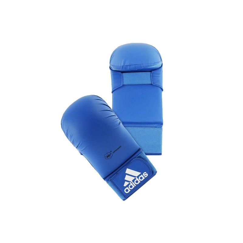 Mitaines karate Adidas WKF avec pouce Bleu