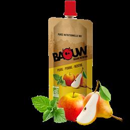 Purée énergétique Baouw Framboise fraise basilic