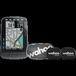 Compteur GPS Elemnt roam Bundle avec moniteur cardiaque TICKR Stealth Grey et des capteurs RPM vitesse et cadence Wahoo
