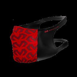 Masque de protection Sport Mc David lavable polyester noir/rouge logo