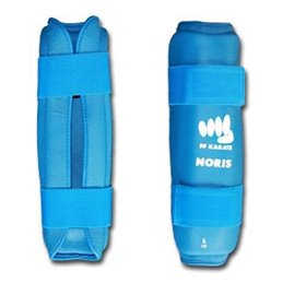 Protection tibias  homologué FF Karate Noris bleu