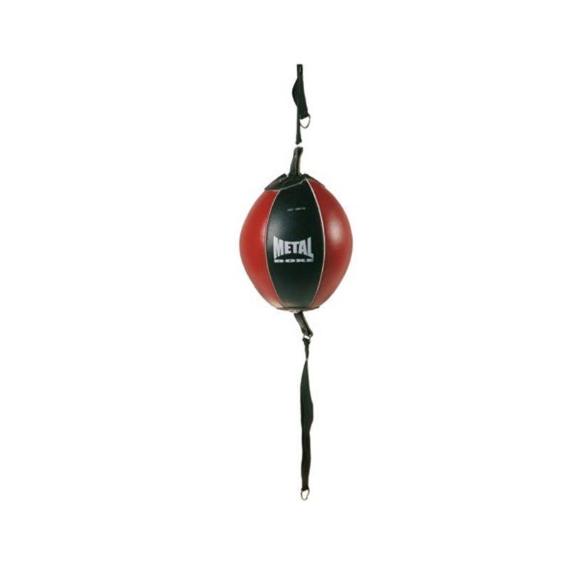 Ballon double elastique Metal boxe noir/rouge