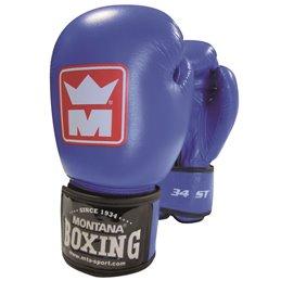 Gants de boxe Montana 34 ST Competition bleu