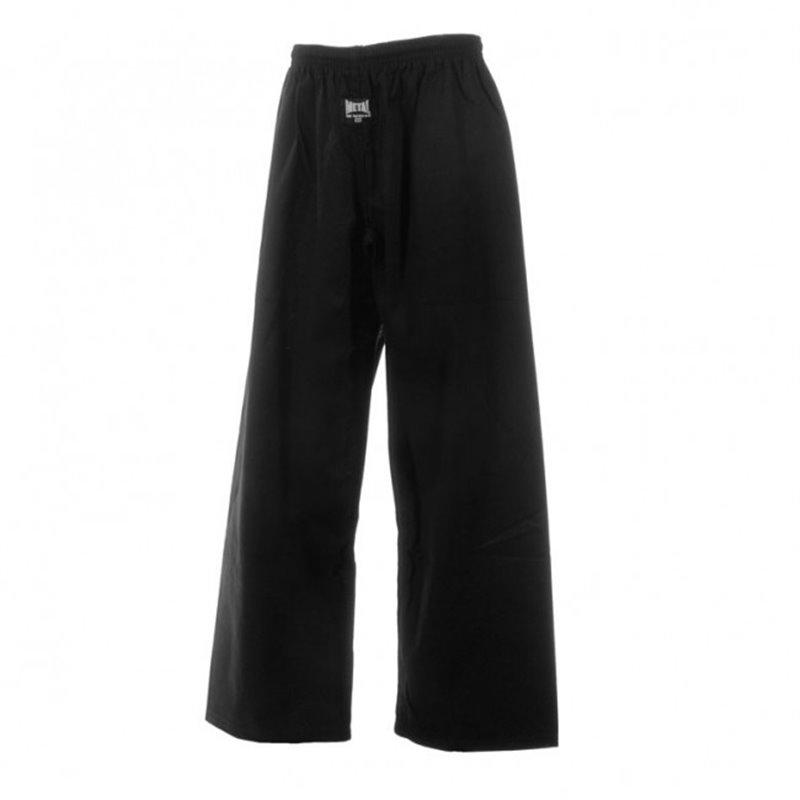 Pantalon coton noir Yok Metal boxe