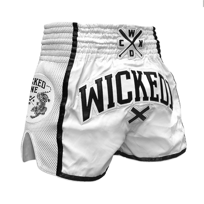 Short WickedOne Muay Thai WOT Blanc
