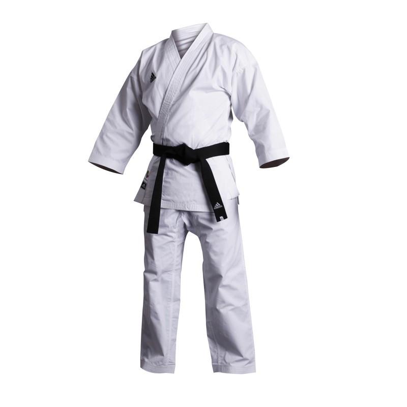 Kimono Karate blanc Adidas modele Kumite logo doré