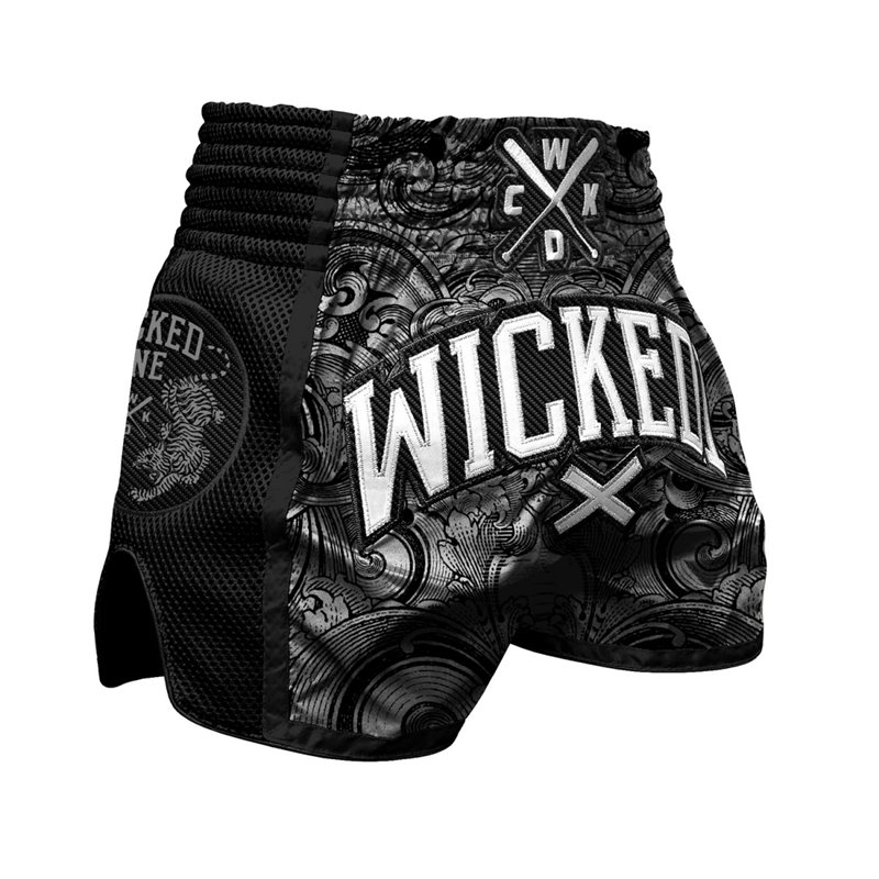 Short Muay-thai WickedOne Tiger Noir