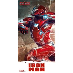 Captain America Civil War poster en verre Iron Man 60 x 30 cm