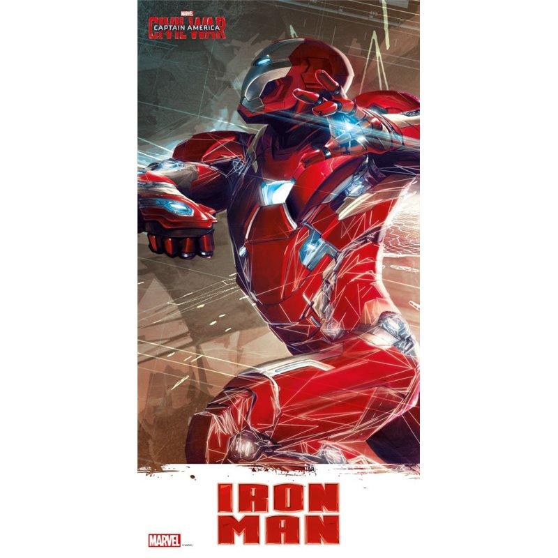 Captain America Civil War poster en verre Iron Man 60 x 30 cm
