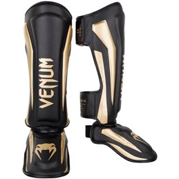 Protege tibias pieds Elite Venum Noir or