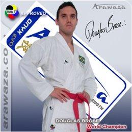 Kimono karaté combat Arawaza Onyx evolution WKF  blanc
