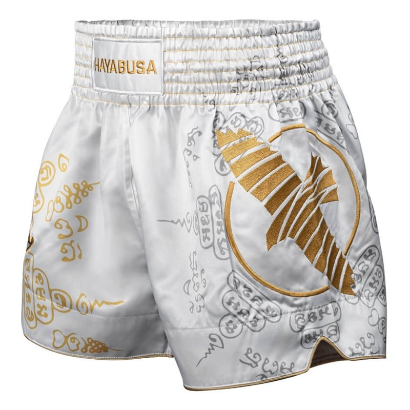 Short de Muay Thai Hayabusa Falcon blanc