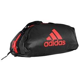 Sac transformable Adidas noir rouge 3 tailles au choix