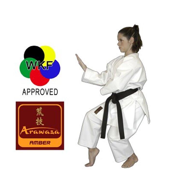 Kimono karaté Kata Arawaza Amber broderie blanche WKF blanc