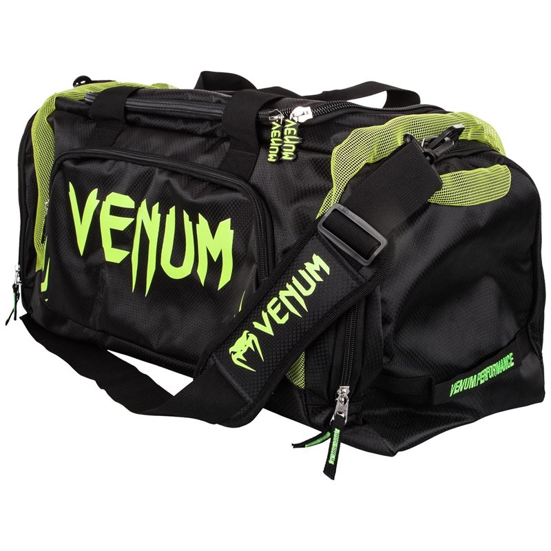 Sac de sport Venum modele trainer noir/jaune fluo