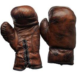 Gants boxe vintage collection cuir Marron foncé