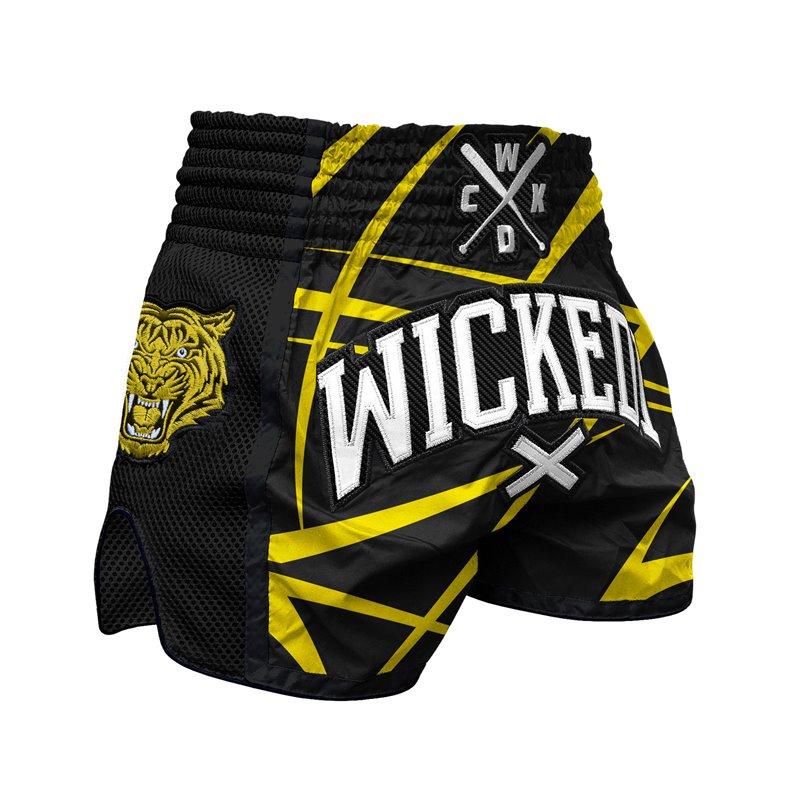 Short Muay-thai WickedOne Claws noir/jaune