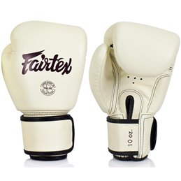 Gants boxe Fairtex FXV16 Blanc creme