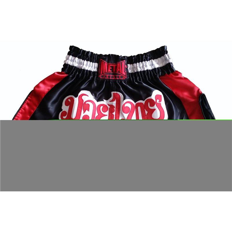 Shorts thai Metal Boxe Noir/Rouge TC70H