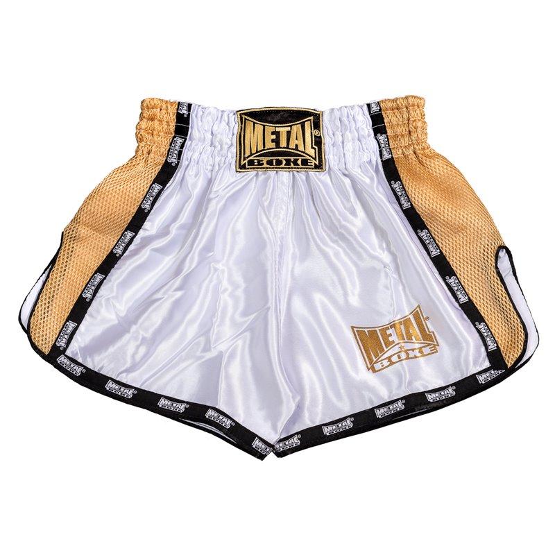 Shorts thai Metal Boxe Blanc/OR TC70F