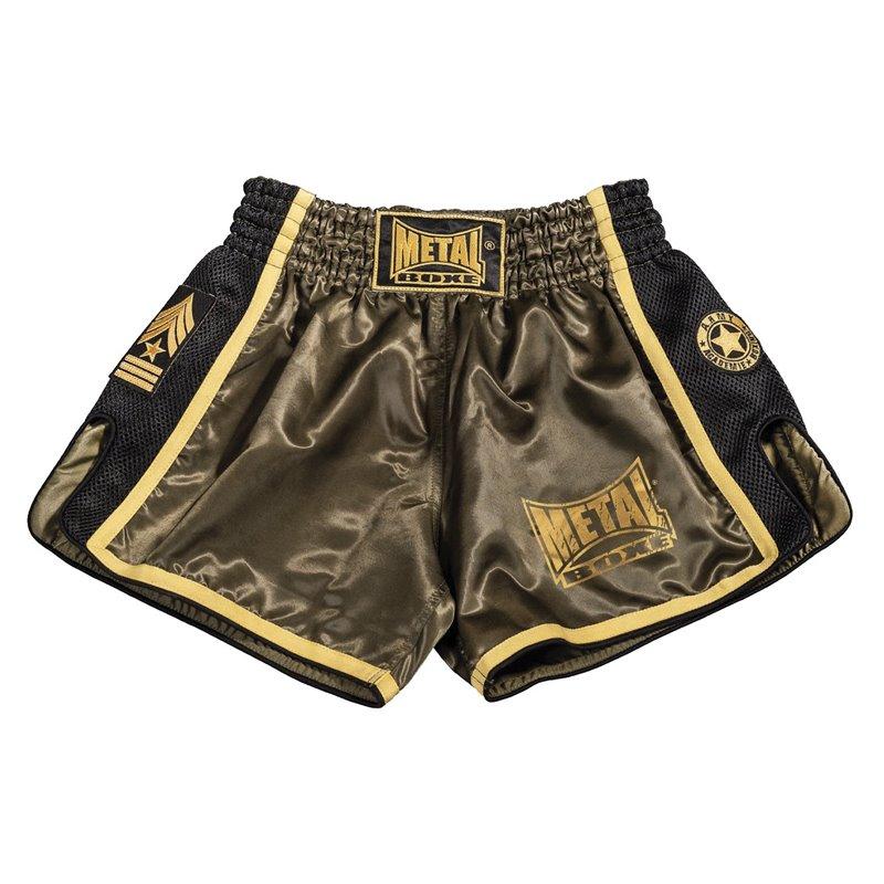 Shorts thai Metal Boxe Kaki