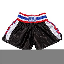 Shorts Kick Metal Boxe noir/blanc