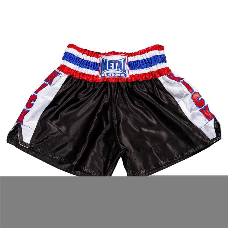 Shorts Kick Metal Boxe noir/blanc