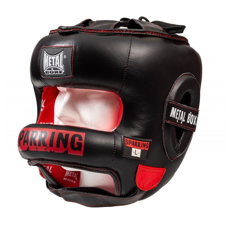 Casque pro metal boxe Sparring à barre protection totale