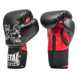 Gants boxe Initiation Metal boxe PB100 Noirs