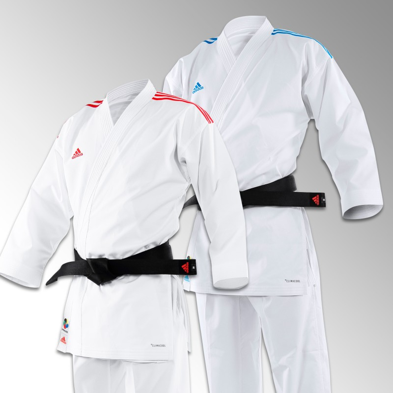 Kimono Adidas blanc kumite combat Revoflex bandes bleues