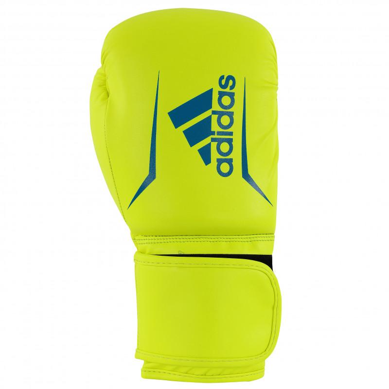 Gants boxe debutants Adidas speed50 jaune fluo