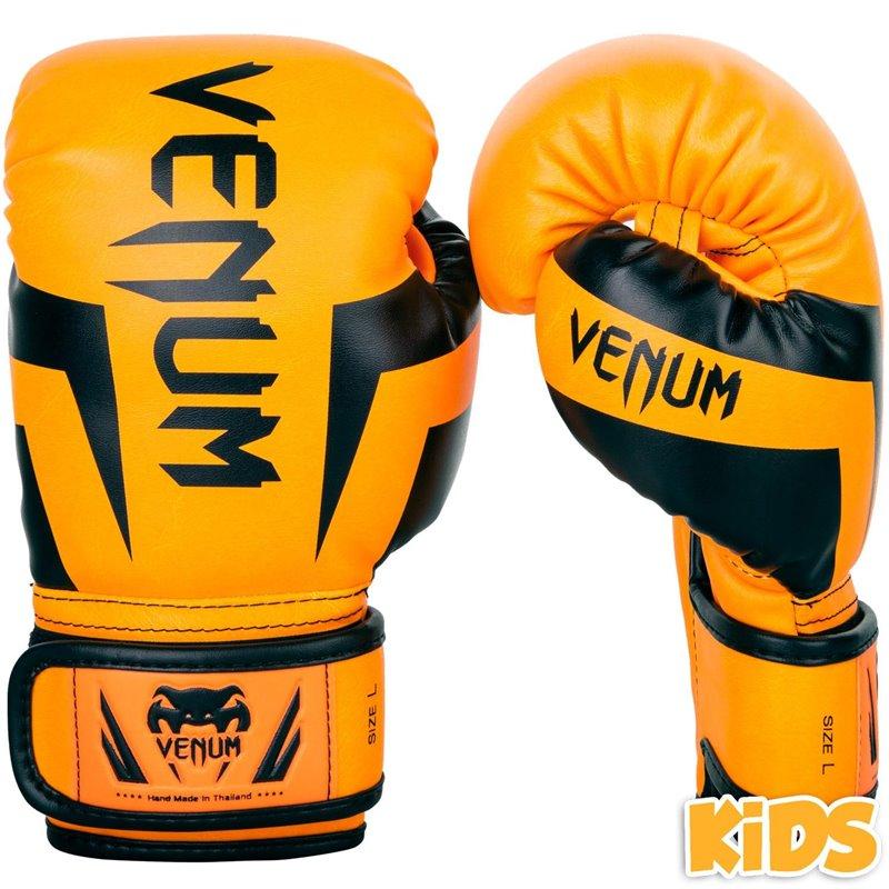 Gants de boxe Venum Elite enfants Rose fluo