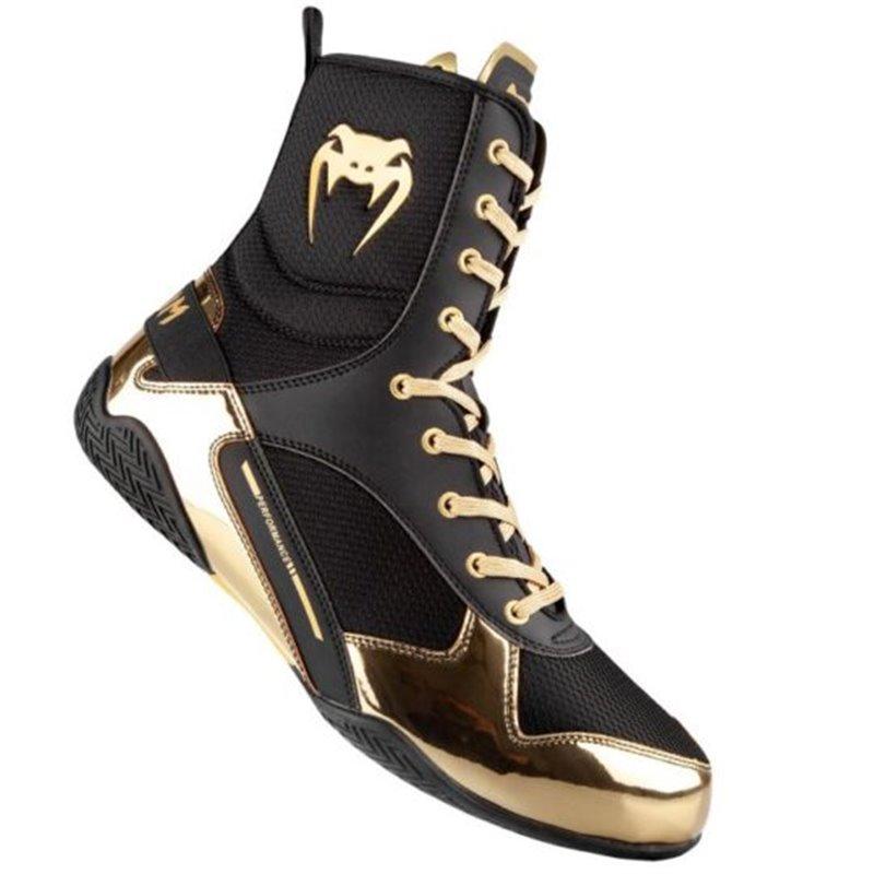 Chaussures de boxe Anglaise Venum Elite montantes Noir/or