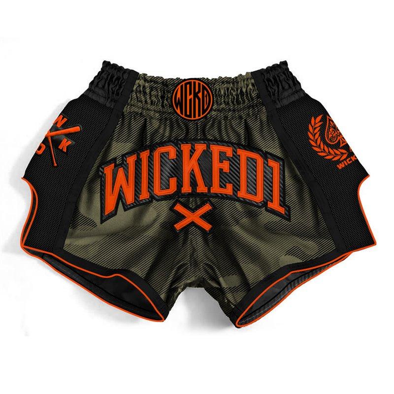 Short Muay-thai et Kick WickedOne Camo Kaki