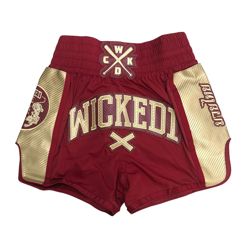 Short Muay-thai et Kick WickedOne Shinning Rouge